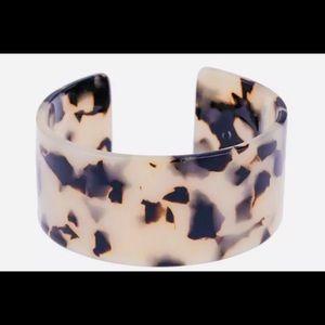 Tortoiseshell Acrylic Bangle Bracelet